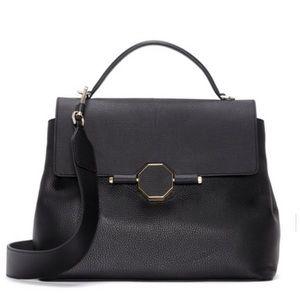Louise Et Cie Kora Black satchel leather bag